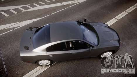 Dodge Charger Traffic Patrol Unit [ELS] rbl для GTA 4 вид справа