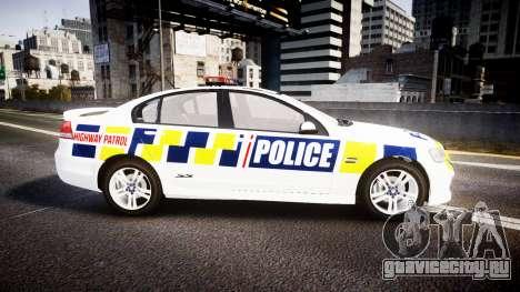Holden VE Commodore SS Police HWP [ELS] для GTA 4 вид слева