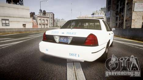 Ford Crown Victoria Metropolitan Police [ELS] для GTA 4 вид сзади слева