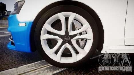 Audi S4 Avant Belgian Police [ELS] для GTA 4 вид изнутри
