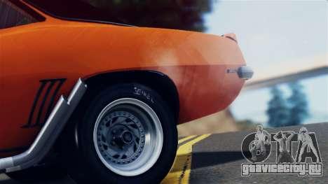 Chevrolet Camaro SS Dragster для GTA San Andreas вид изнутри
