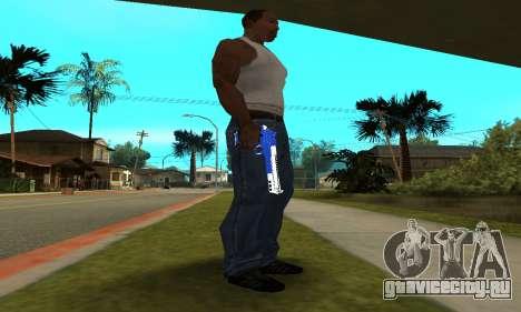 Blue Cool Deagle для GTA San Andreas второй скриншот
