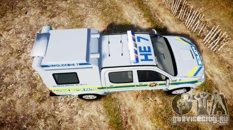 Toyota Hilux 2010 South African Police [ELS] для GTA 4 вид справа