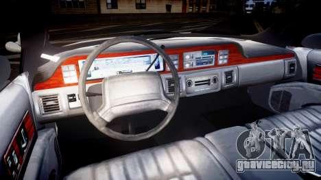 Chevrolet Caprice Liberty Police v2 [ELS] для GTA 4 вид сзади