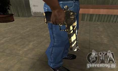 Gold Lines Deagle для GTA San Andreas