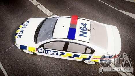 Holden VE Commodore SS Police HWP [ELS] для GTA 4 вид справа