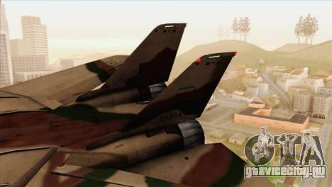 Grumman F-14A IRIAF для GTA San Andreas вид сзади слева