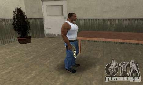 Gold Lines Deagle для GTA San Andreas третий скриншот