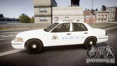 Ford Crown Victoria Metropolitan Police [ELS] для GTA 4 вид слева