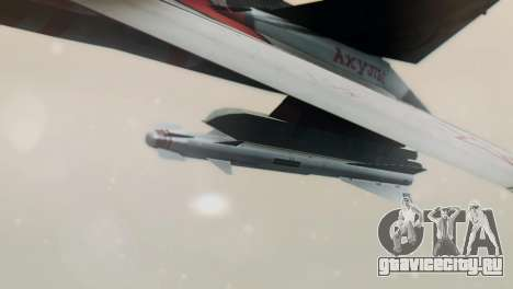 T-50 PAK-FA -Akula- для GTA San Andreas вид сзади слева