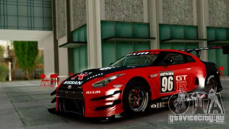 Nissan GT-R (R35) GT3 2012 PJ1 для GTA San Andreas вид сбоку