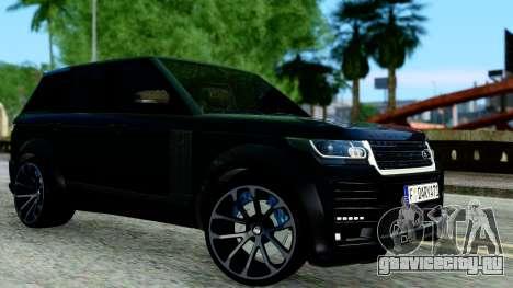 Range Rover Vogue Lumma Stratech для GTA San Andreas вид слева