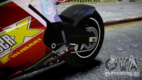 Bike Bati 2 HD Skin 1 для GTA 4 вид сзади