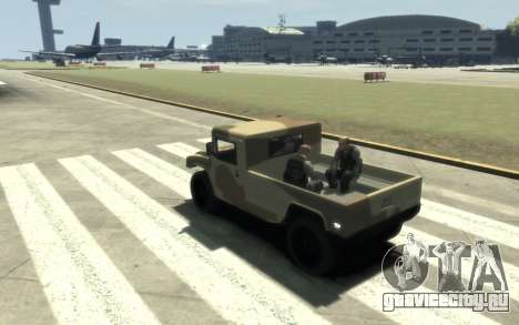GTA 5 Millitary Patriot для GTA 4 вид сзади