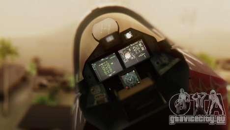 T-50 PAK-FA -Akula- для GTA San Andreas вид сзади