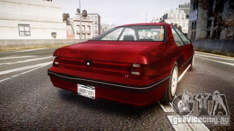 Vapid Fortune Beater для GTA 4 вид сзади слева