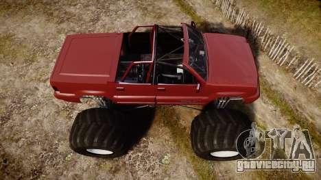 Albany Cavalcade FXT Cabrio Monster Truck для GTA 4 вид справа