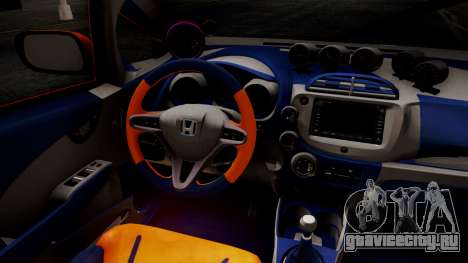 Honda Fit Street Modify Inori Yuzuriha Itasha для GTA San Andreas вид справа