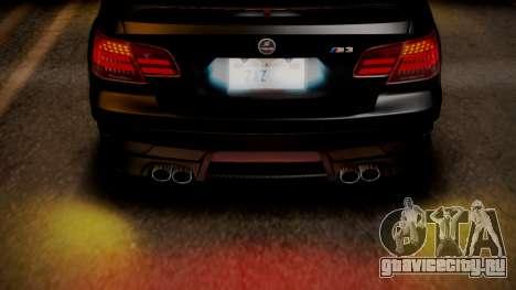 BMW M3 E92 Hamman для GTA San Andreas вид снизу