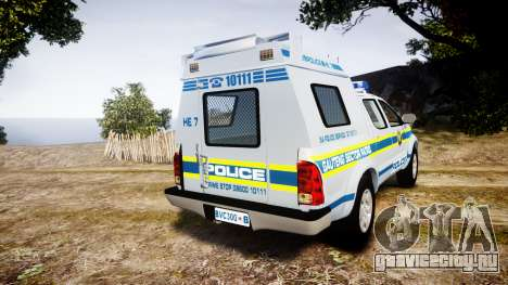 Toyota Hilux 2010 South African Police [ELS] для GTA 4 вид сзади слева