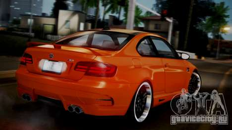 BMW M3 E92 Hamman для GTA San Andreas вид слева