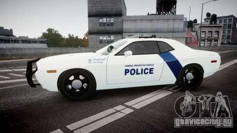 Dodge Challenger Homeland Security [ELS] для GTA 4 вид слева