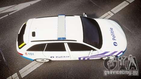 Audi S4 Avant Belgian Police [ELS] для GTA 4 вид сзади