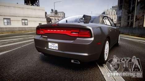 Dodge Charger Traffic Patrol Unit [ELS] rbl для GTA 4 вид сзади слева