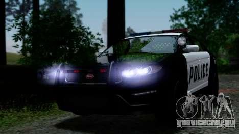 GTA 5 Vapid Police Interceptor v2 IVF для GTA San Andreas вид сверху