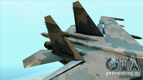 Sukhoi SU-35BM Mobius Squadron для GTA San Andreas вид сзади слева