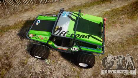 Tiger 4x4 для GTA 4 вид справа