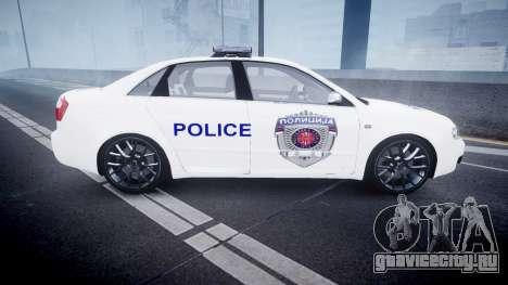 Audi S4 Serbian Police [ELS] для GTA 4 вид слева