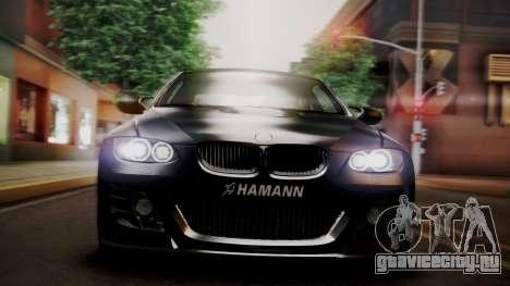 BMW M3 E92 Hamman для GTA San Andreas вид изнутри