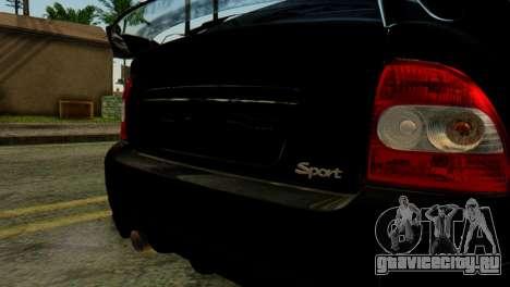 ВАЗ 2172 Coupe для GTA San Andreas вид сзади