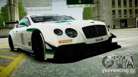 Bentley Continental GT3 2014 для GTA 4