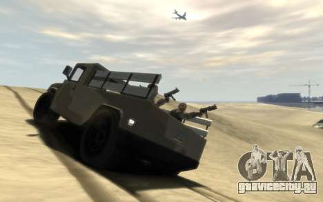 GTA 5 Millitary Patriot для GTA 4 вид слева