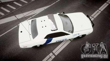 Dodge Challenger Homeland Security [ELS] для GTA 4 вид справа
