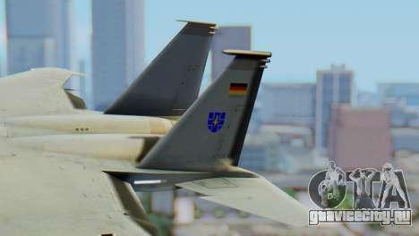 F-15C Eagle Luftwaffe JG 73 для GTA San Andreas вид сзади слева