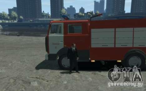 МАЗ 533702 Пожарный г. Липецк для GTA 4 вид слева