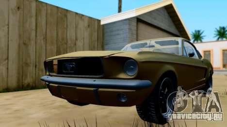 Shelby Mustang GT 1967 для GTA San Andreas вид сзади слева