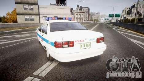 Chevrolet Caprice Liberty Police v2 [ELS] для GTA 4 вид сзади слева