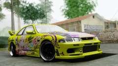 Nissan Skyline R33 Shiina Mashiro Itasha для GTA San Andreas