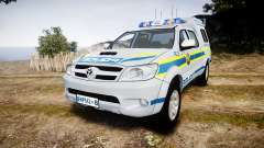 Toyota Hilux 2010 South African Police [ELS]