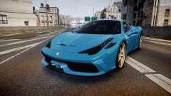 Ferrari 458 Speciale 2014 для GTA 4