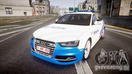 Audi S4 Avant Belgian Police [ELS] для GTA 4