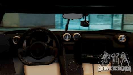 NFS Rivals Koenigsegg Agera R Enforcer для GTA San Andreas вид справа