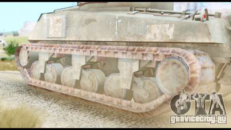 M4 Sherman 75mm Gun Urban для GTA San Andreas вид сзади слева