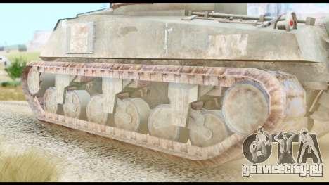 M4 Sherman 75mm Gun Urban для GTA San Andreas вид сзади слева