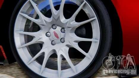 Jaguar XKR-S 2011 Cabrio для GTA San Andreas вид сзади слева