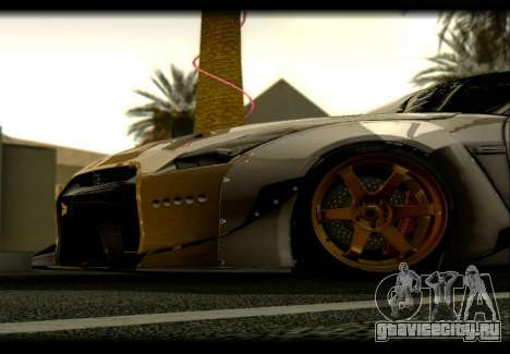 Nissan GTR-R35 Rocket Bunny для GTA San Andreas вид сзади слева